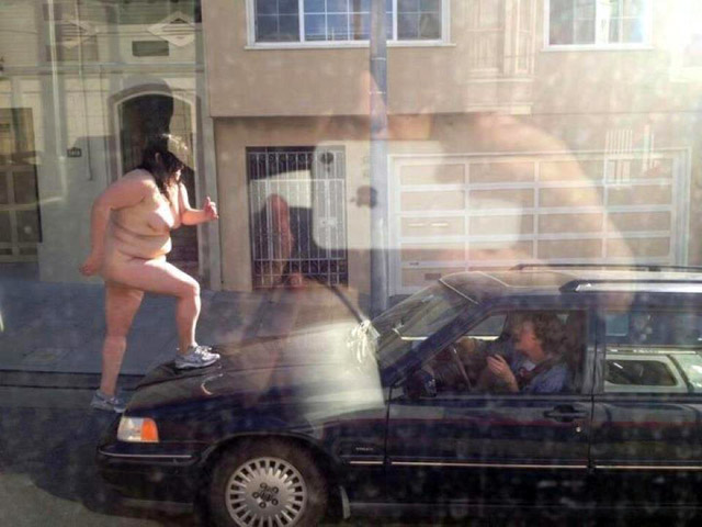 Car And Nacked Woman 70