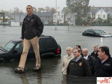 obama walking on water