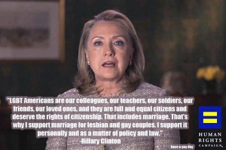Gay Left Hillary