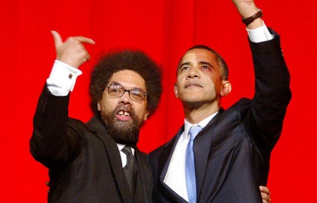 Professor Cornell West and Senator Barack Obama