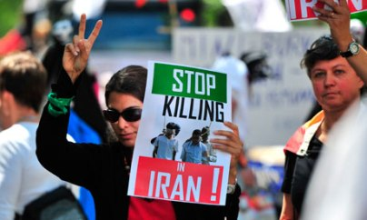 Demonstration against Iran's policy on gay rights