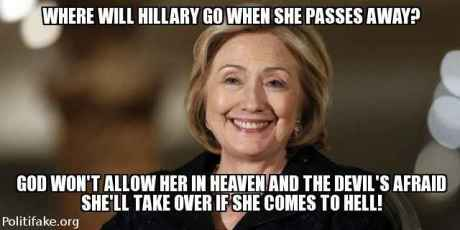 Image result for evil looking hillary
